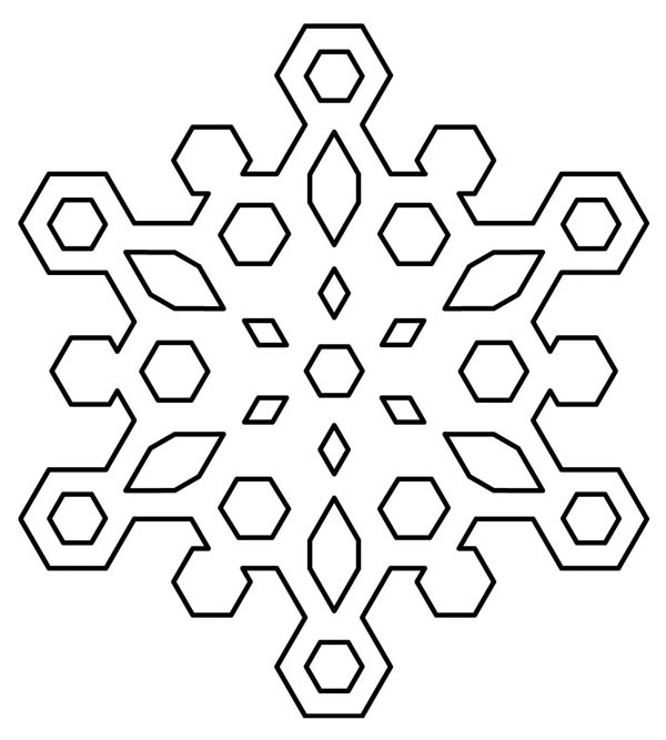 diamond snowflakes coloring page - Snowflake Coloring Pages Kids