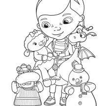 Doc McStuffins Like to Help in Doc McStuffins Coloring Page