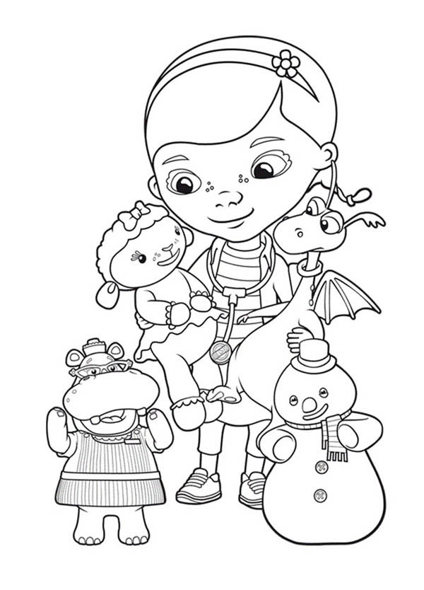 Doc McStuffins Like to Help in Doc McStuffins Coloring Page NetArt