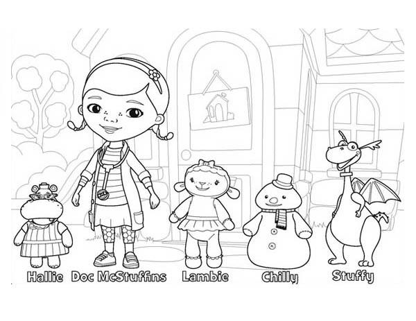 doc mcstuffins and friends in doc mcstuffins coloring page - Doc Mcstuffins Coloring Pages