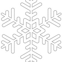 Dotted Line Snowflakes Coloring Page