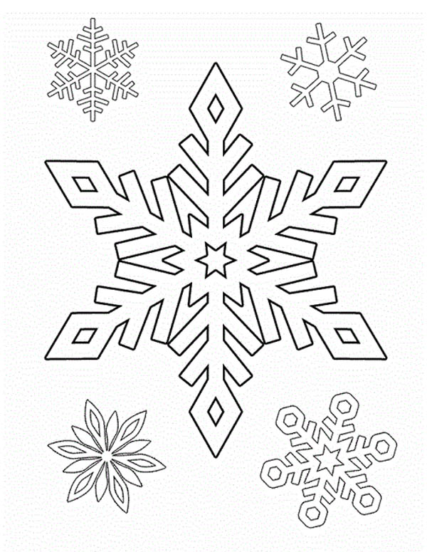 drawing snowflakes coloring page - Snowflake Coloring Pages Kids