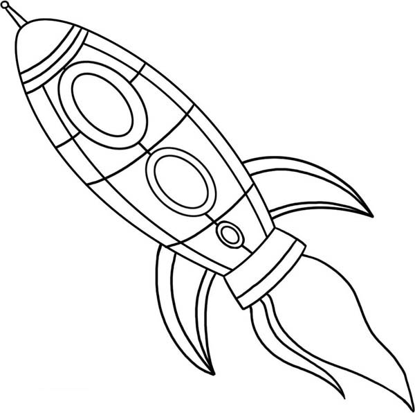 drawing spaceship coloring page