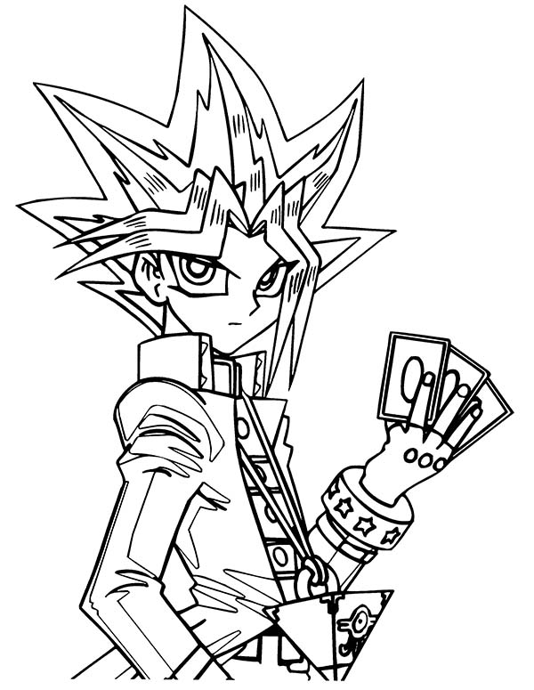 duel monster card game on yu gi oh coloring page