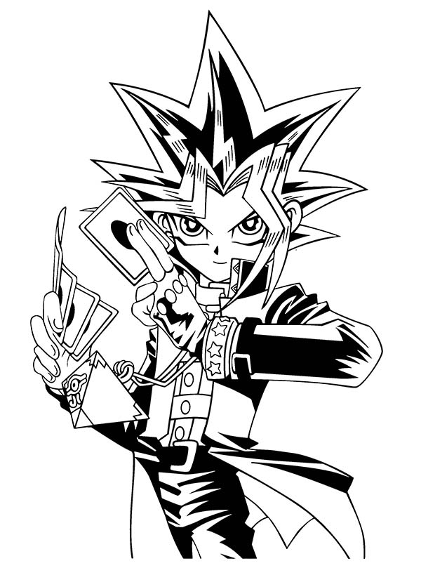 duelist kingdom and battle city tournament in yu gi oh coloring page