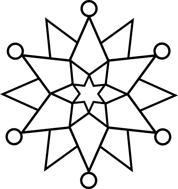 Elegant snowflakes coloring page netart for Snowflakes printable coloring pages