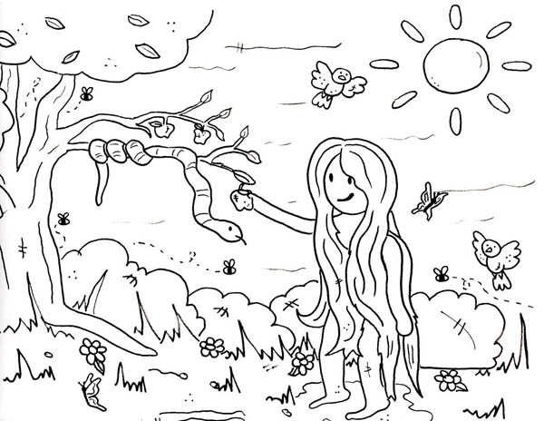 coloring pages garden of eden - photo#23