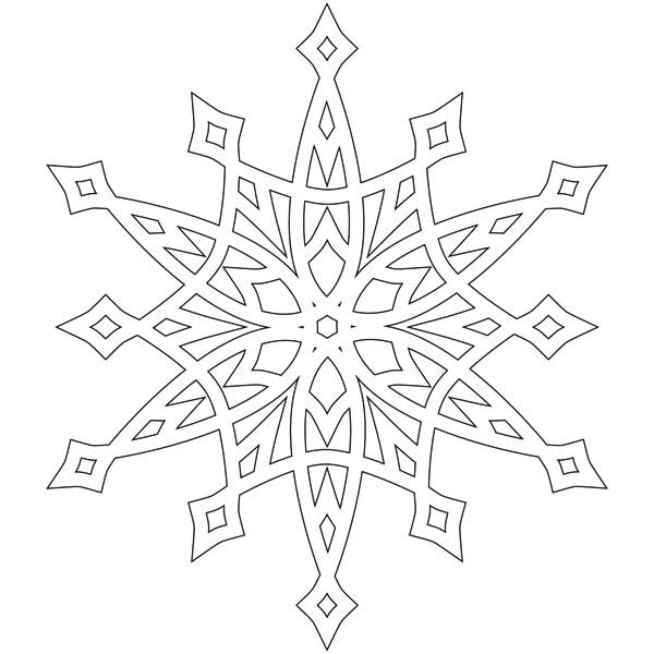 fancy snowflakes coloring page - Snowflake Coloring Page