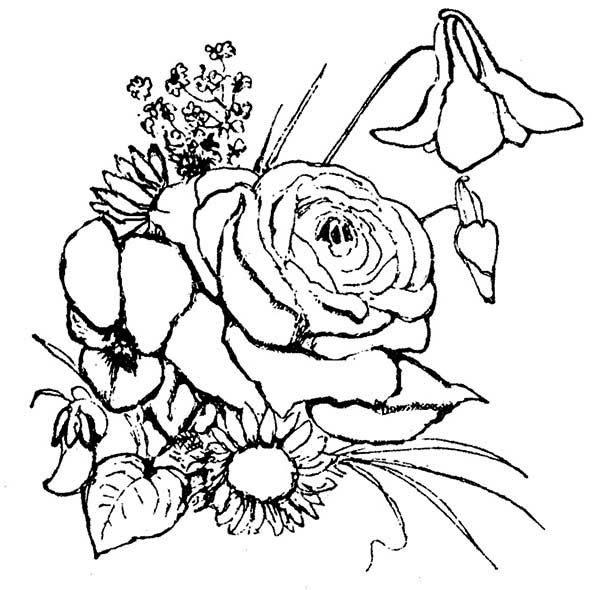 Flower Arrangement Coloring Page