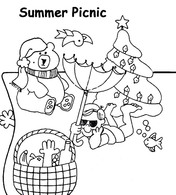 Picnic blanket coloring page the image for Picnic blanket coloring page