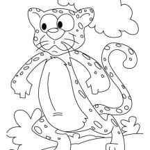 Funny Cheetah Drawing Coloring Page