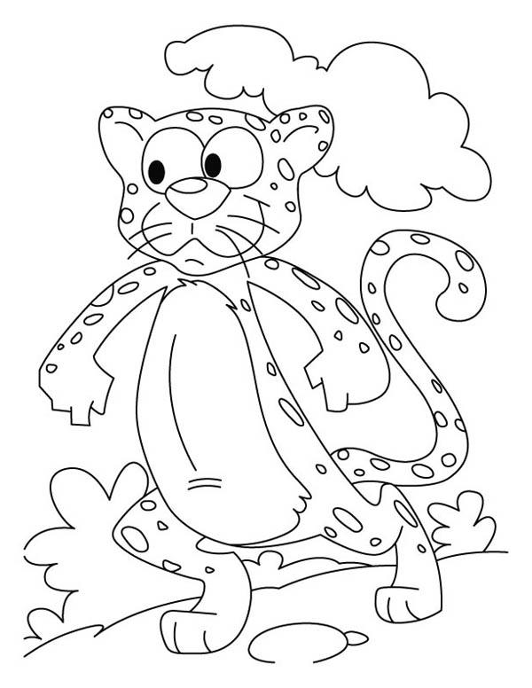 Funny Cheetah Drawing Coloring Page - NetArt