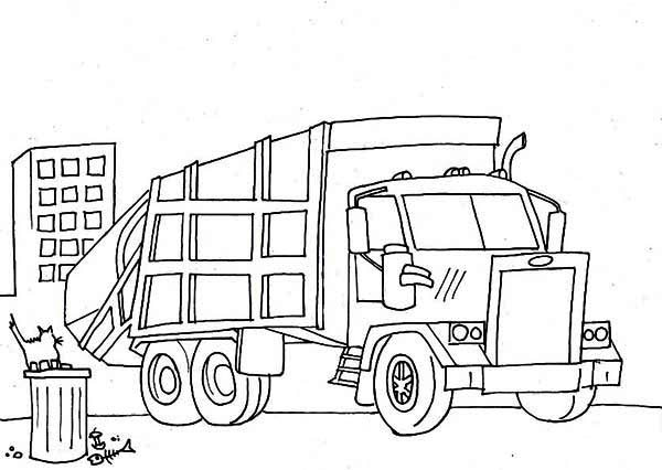 trash truck coloring pages - Big Truck Coloring Pages Kids