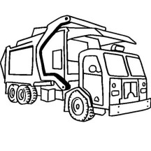 Garbage Truck in Semi Truck Coloring Page