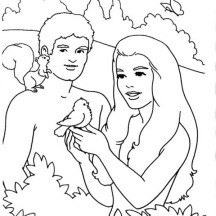 Garden of Eden is Trees of the Garden  Coloring Page