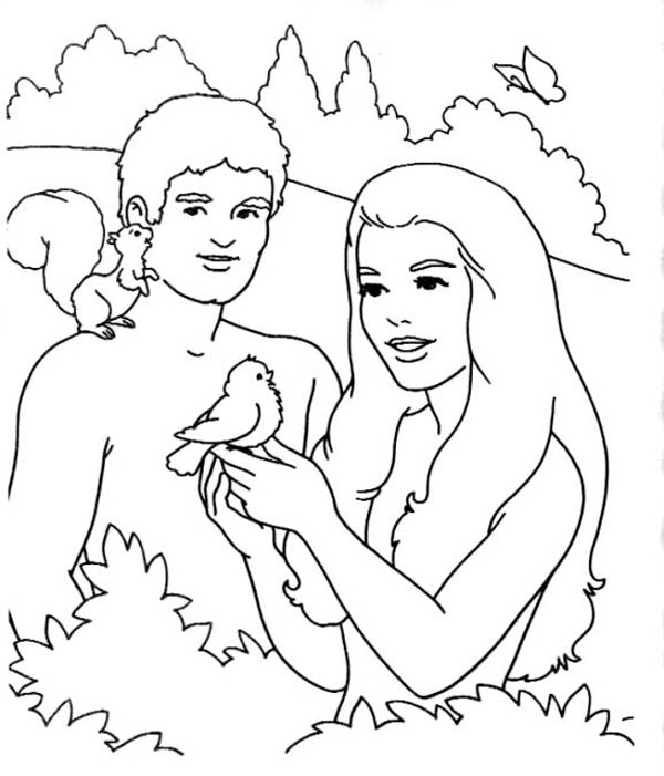 Garden Of Eden Is Trees The Coloring Page