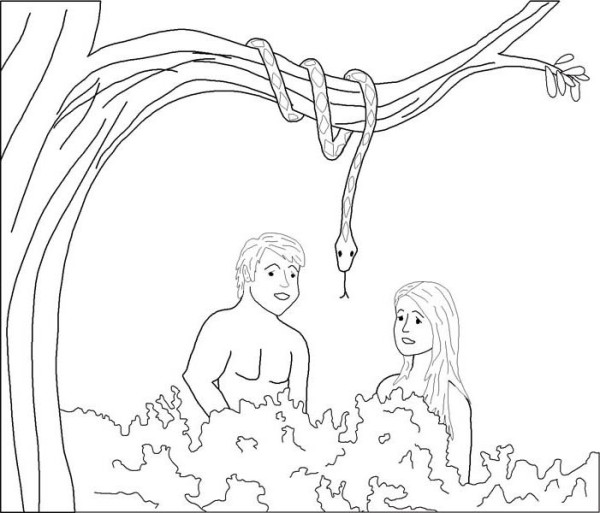 Garden Of God Is The Eden Coloring Page