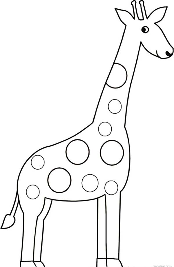 Giraffe Drawing Coloring Page