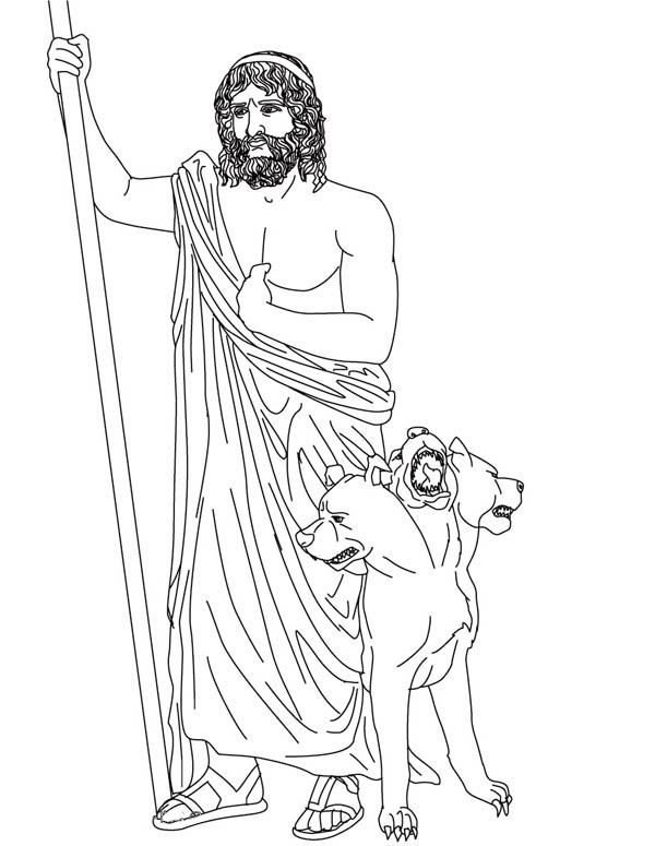 hades from greek gods and goddesses coloring page
