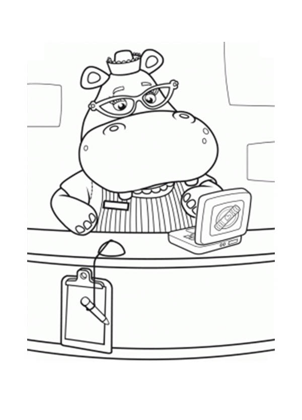 Hallie The Doctor Assistant In Doc McStuffins Coloring Page