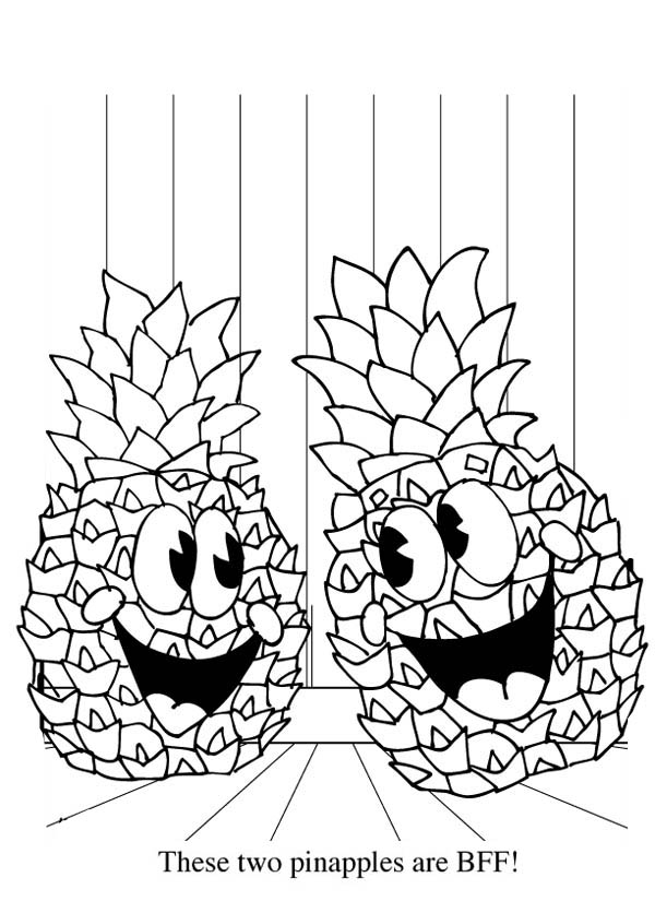 Pineapple Coloring Sheets Cake