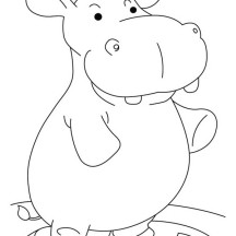 Hippo Weigh In Coloring Page
