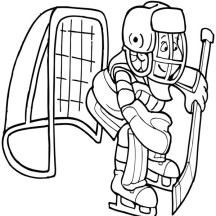 Hockey Goal Keeper Coloring Page