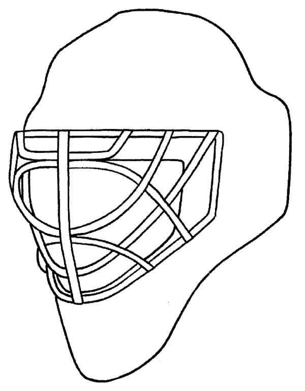 Hockey Helmet Coloring Page