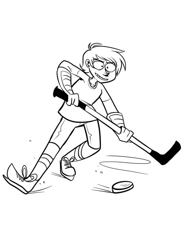 Hockey player keep the puck coloring page netart for Hockey player coloring page