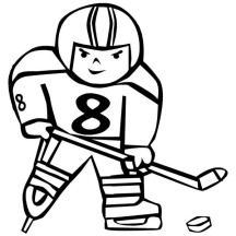Hockey Player Trying to Score Coloring Page