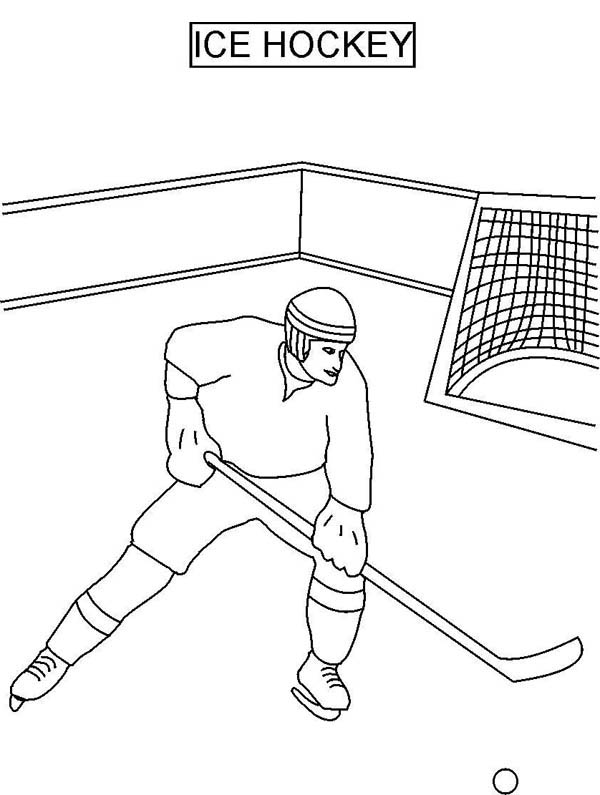 Hockey player on ice coloring page netart for Ice hockey coloring pages