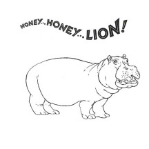Honey Honey Lion in Hippo Coloring Page