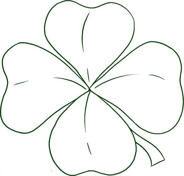 How To Draw Four Leaf Clover Coloring Page