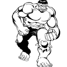 Hulk Big Punch Coloring Page