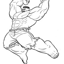 Hulk Jumping Smash Coloring Page