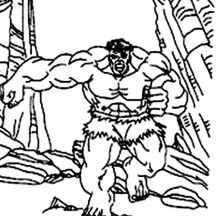 Hulk Running Away to Mountain Area Coloring Page