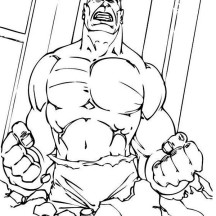 Hulk Start to Angry Coloring Page