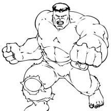 Hulk Super Power Coloring Page