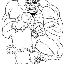 Hulk is Hurt Coloring Page