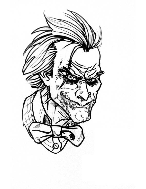 joker coloring page - The Joker Coloring Pages