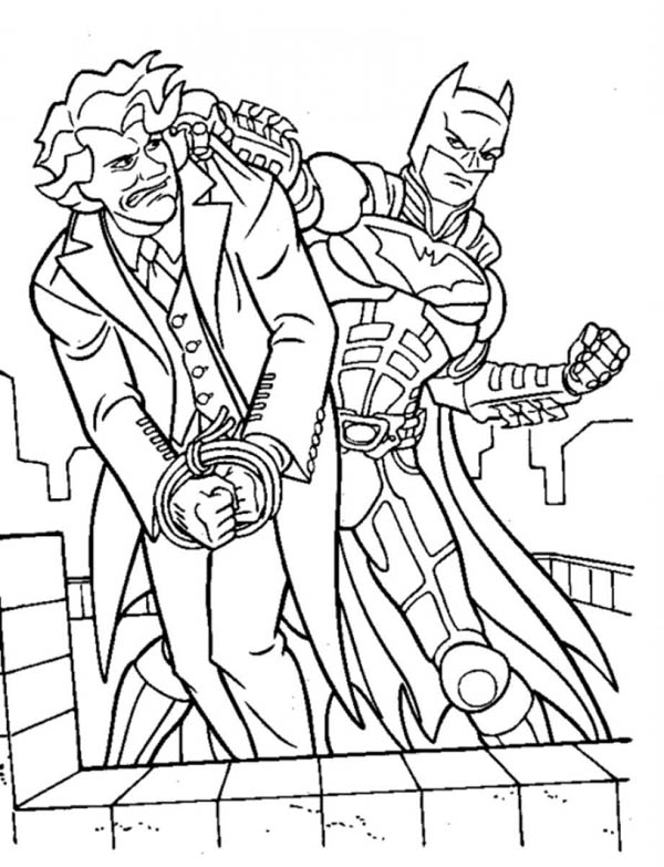 Joker Lose To Batman Coloring Page