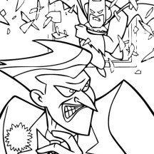 Joker Run from Batman Coloring Page