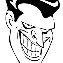 Joker Smiling Face Coloring Page