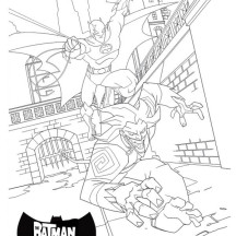 Joker is Batman Mortal Enemy Coloring Page