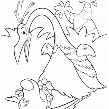 Kevin Surprised to See Dug in Disney Up Coloring Page