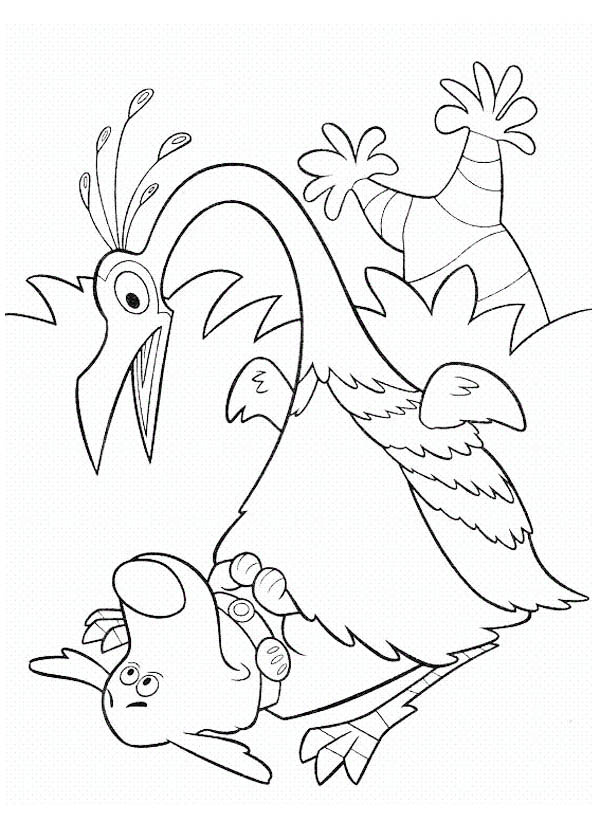 Kevin Surprised To See Dug In Disney Up Coloring Page Netart Up Coloring Pages