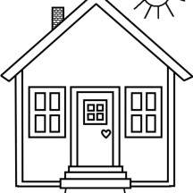 Kid Drawing of House in Houses Coloring Page