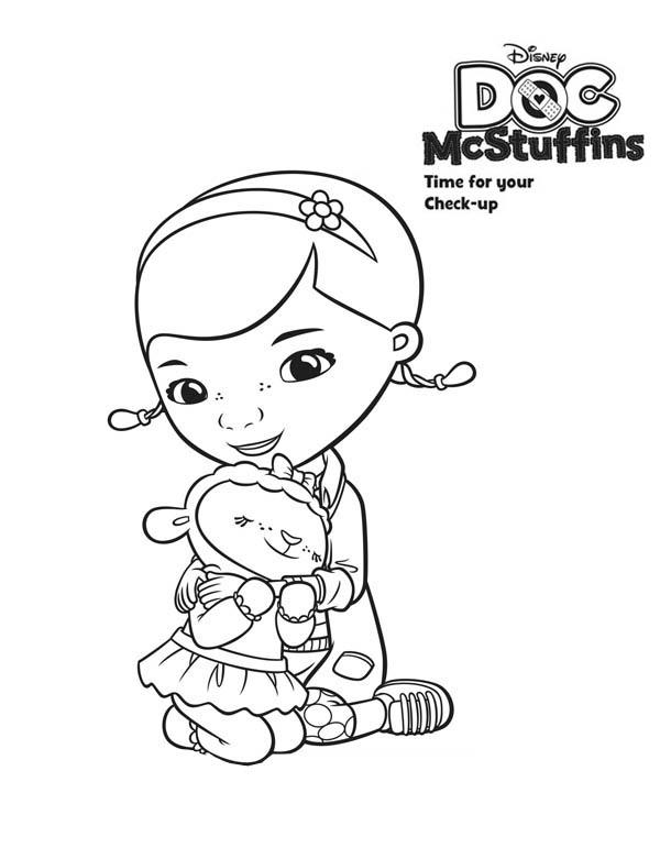 Lambie Love Doc McStuffins Coloring Page