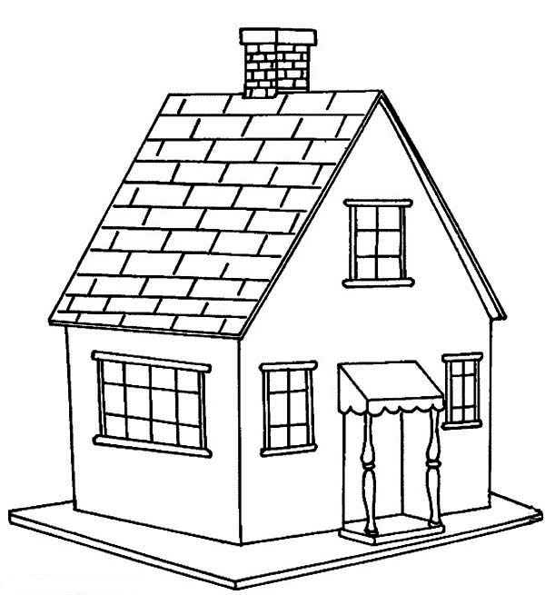 Coloring Pages Of House. Little House in Houses Coloring Page  NetArt