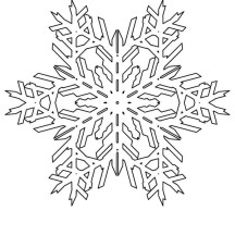 Lovely Snowflakes Pattern Coloring Page